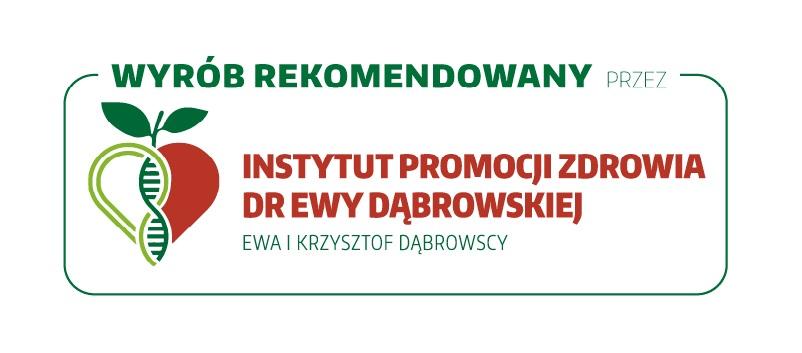 Wyrób rekomendowany przez Instytut Promocji Zdrowia Dr Ewy Dąbrowskiej